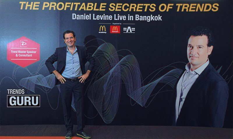Trends guru Daniel Levine at an innovation conference in Bangkok