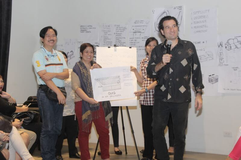 Creating innovation at a workshop with Daniel Levine in the Philippines